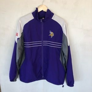 NFL official Reebok Minnesota vikings windbreaker